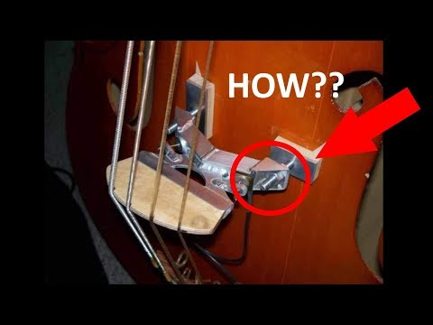 How To Put A Bridge On A Double Bass.