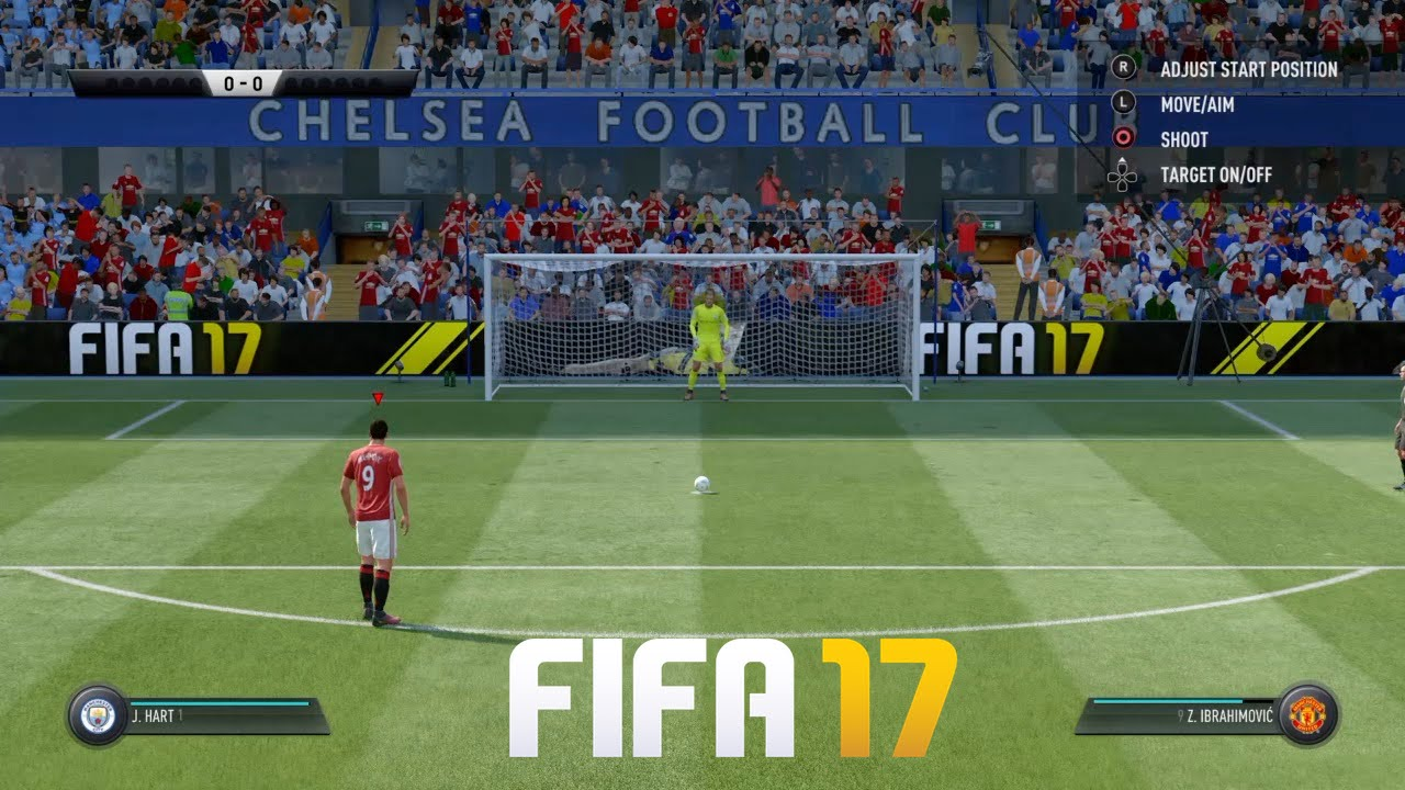 fifa 17 penalty shootout gameplay manchester united vs. Black Bedroom Furniture Sets. Home Design Ideas