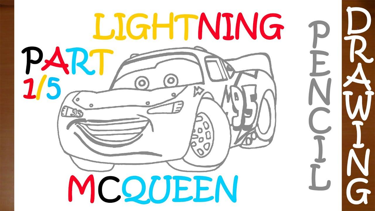 Comment Dessiner Lightning Mcqueen Etape Par Etape Easy Disney 1 5