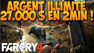 ARGENT ILLIMITÉ SUR FAR CRY 4 - 27.000$ EN 2 MINUTES ! BEST METHODE !