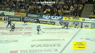 PSG Zlín vs. HC Škoda Plzeň 3:4 ve 2. prodl. (7. zápas finále extraligy 21.4.2013)