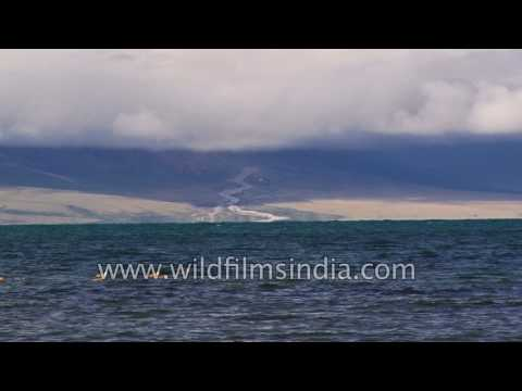 Manasarovar Lake at 15, 000 feet altitude in Tibet: revered by Bön, Buddhists, Hindus and Jainis