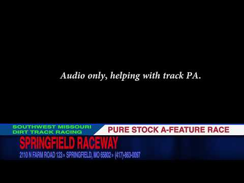 Pure Stock A Feature Audio ONLY Springfield Raceway August 19, 2017