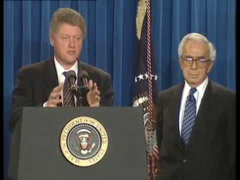 Pres. Clinton Announcing Lloyd Culter as Special Counsel (1994)