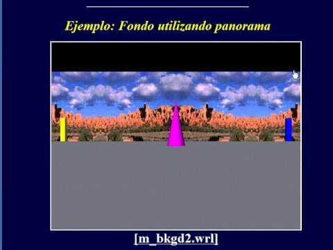 Incluir un fondo en VRML.© UPV