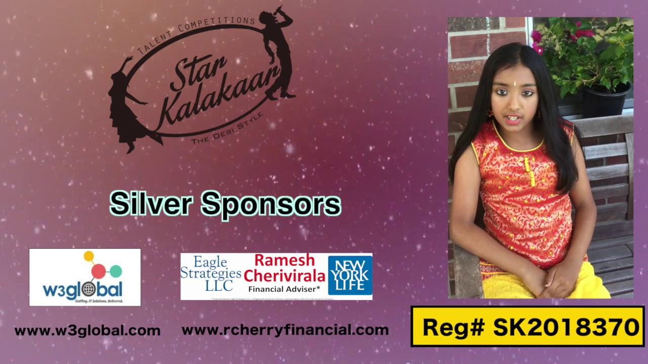 Participant Reg# SK2018-370 Introduction - US Star Kalakaar 2018 || DesiplazaTV
