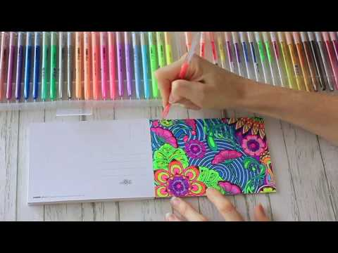 Kaisercraft Gel Pens and Post Card Colouring in Books