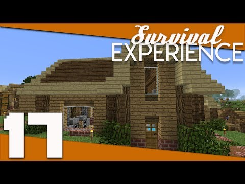Minecraft: Survival Experience - 017 - Long and L-Shaped Village Houses! | Minecraft 1.12 Survival