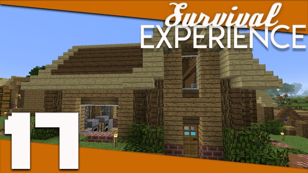 Minecraft Survival Experience 017 Long And L Shaped Village Houses Minecraft 1 12 Survival Youtube