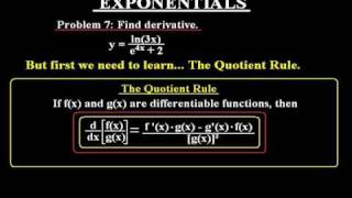 Differential Calculus - Basic Derivation of Exponentials - Part 6