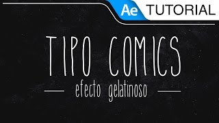 Texto Tipo Comics -  Tutorial After Effects