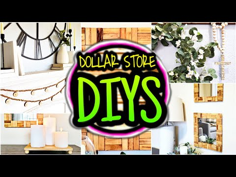 5 DIYs Farmhouse Boho Room Decor - DIY Dollar Tree & Walmart