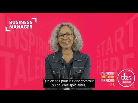 TBS - Laura BONZON-BLEC, Directrice Académique, nous présente le programme Business Manager.