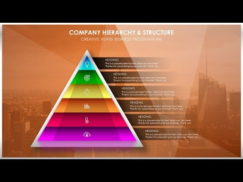 How To Create Structure or Company Hierarchy Presentation Slide in Microsoft Office PowerPoint PPT
