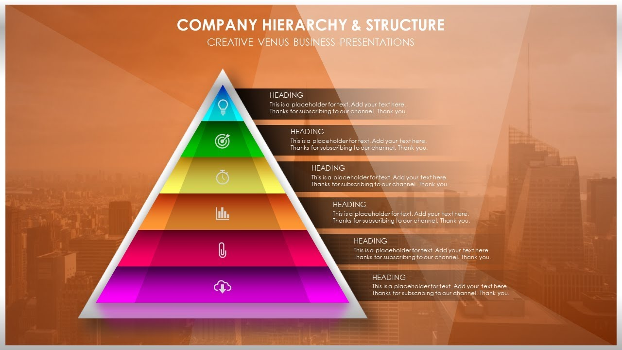 how to create structure or company hierarchy presentation