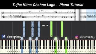 ♫ Tujhe Kitna Chahne Lage (Arijit Singh) Kabir Singh || Piano Tutorial + Music Sheet + MIDI