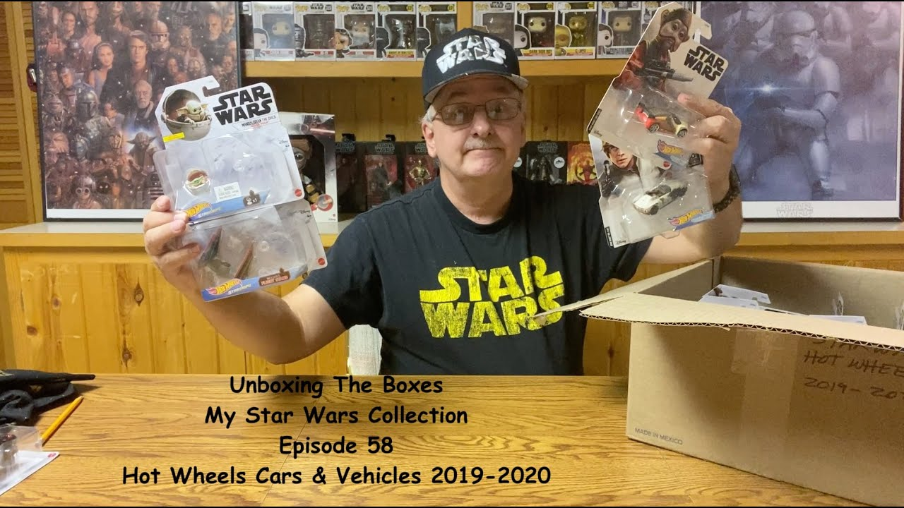 E58. Unboxing My Star Wars Collection. Hot Wheels Cars and Vehicles 2019-2020.