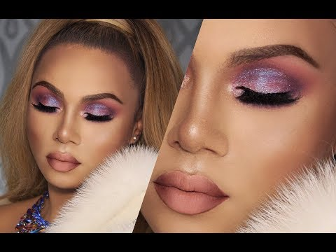 Ultra Glam Purple Smokey Eye Makeup Tutorial | How to get a Man! thumbnail