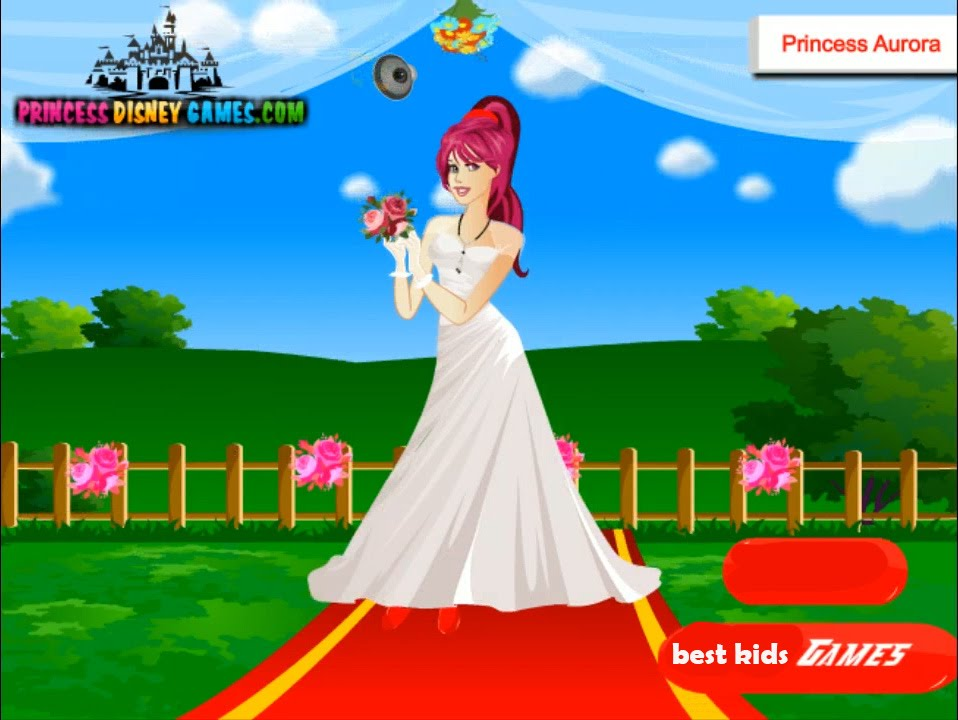 Disney Princess Wedding Day Dress Up Games : Disney princess aurora wedding dress up game for