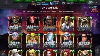 Marvel contest of champions new store deals and greater red pocket crystals -which champ to rank up?