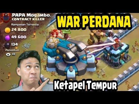 WAR Perdana TH 13 Lawan 2 DEFEN Baru Ketapel ,Attack HOG Dan Yeti Max COC INDONESIA