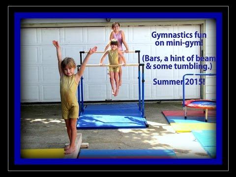 3 Sister Gymnastics In At Home Mini Gym - Bar Fun & More