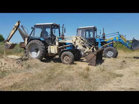 Экскаватор МТЗ Борекс, МТЗ-892,82 - погрузки песка.