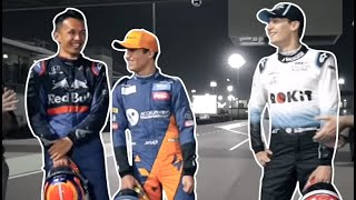 F1 Rookies Being Hilarious for 7 minutes straight.