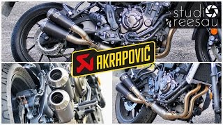 yamaha xsr700   ride with me   vol 6   akrapovic dual exhaust   sound battle