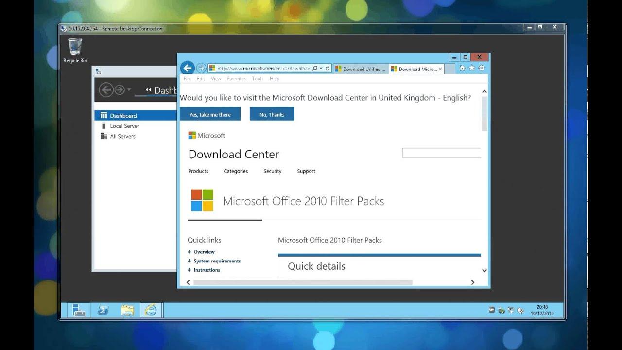 Server 2012 Standard - Video 2 - Installing Exchange 2013 on Server 2012  using RDP and ESXi