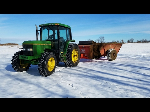 Spreading Manure With A John Deere 6300 & Kuhn-Knight 8114 Spreader