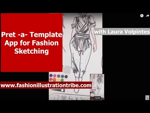 Pret-a-template app for fashion Sketching- demonstration