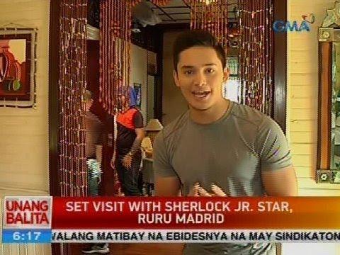 Set visit with Sherlock Jr. star, Ruru Madrid