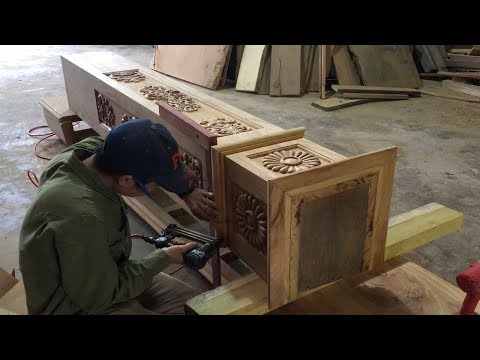 Woodworking Projects (Part  3) – Build Wooden Partition Wall Designs // Decorative Wood Columns