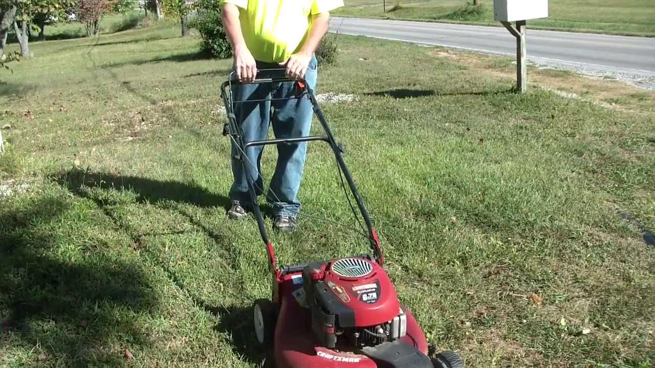 Craftsman 6 75 Hp 21 Quot Self Propelled Lawn Mower Youtube