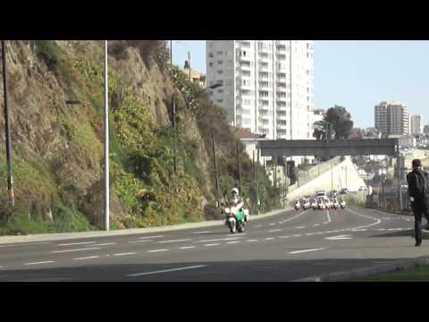 SEBASTIAN PIÑERA por Viña del Mar desde Valparaiso, chilean presidential motorcade
