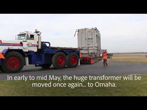 OPPD Big Transformer Move Part 1