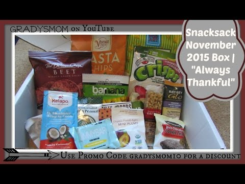 Snacksack | November 2015 Unboxing + Review W/ Discount Code