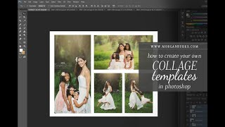 How to Create a Collage Template and Use Clipping Masks in Photoshop