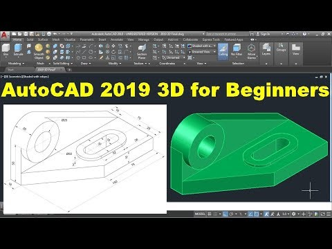 AutoCAD 2019 3D Tutorial For Beginners