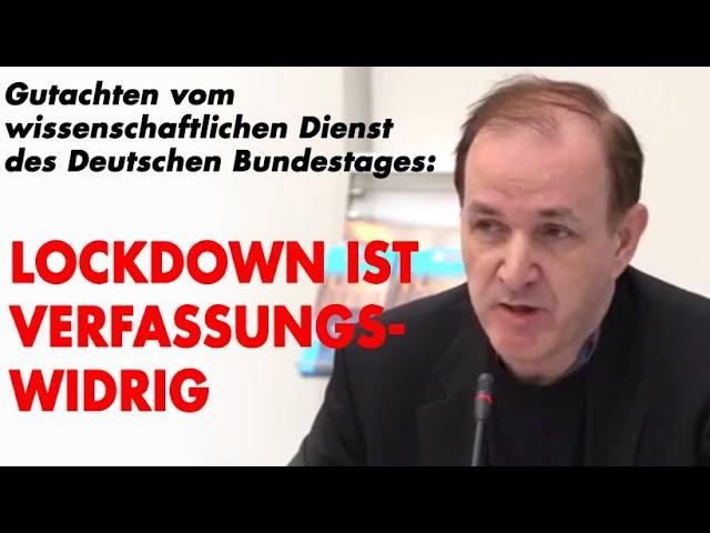 Pressekonferenz: Lockdown ist nicht rechtsmäßig!