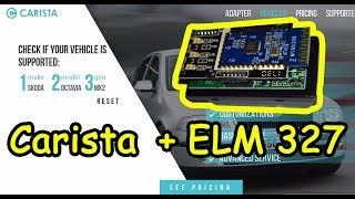 ELM327 + Carista. Пробуем на Renault Sandero