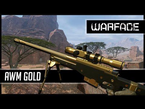 Warface AWM Gold