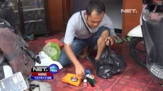 NET12 - Caleg Gresik kampaye dengan jadi tukang semir sepatu