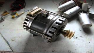 Как подключить двигатель от стиральной машины ДАСМ-2УХЛ4 на малые и большие обороты.(Двигатель от старой советской стиральной машины, друг решил сделать точило. У двигателя пять клемм, одна..., 2016-03-04T23:10:38.000Z)