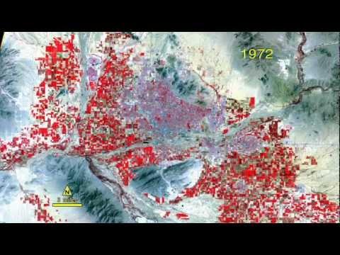 Growth of Phoenix, Arizona 1972-2011