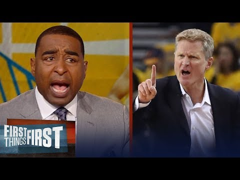 Cris Carter's message to an 'unconcerned' Steve Kerr, Houston's strategy   NBA   FIRST THINGS FIRST
