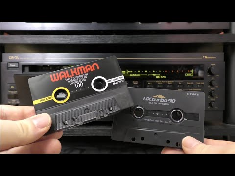 Sony Walkman & UX Turbo - Type 2 High Bias Cassettes & The Nakamichi CR-7