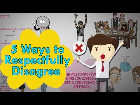 5 Ways to Respectfully Disagree - How to Disagree politely