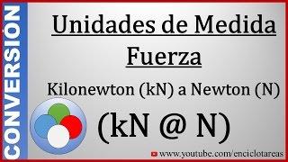 Convertir de Kilonewton (kN) a Newton (N) - (kN a N)